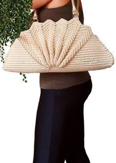 Häkeln Sie Ventilator Tasche Jakobsmuschel-Tasche Shell   Etsy Makramee  Schnur, Einzigartige Taschen, 95c7dc5f41