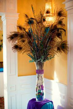 peacock centerpieces     #grandalemanor