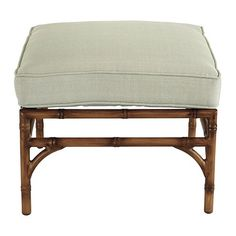 Galante Ottoman - 2 with canvas green cushions
