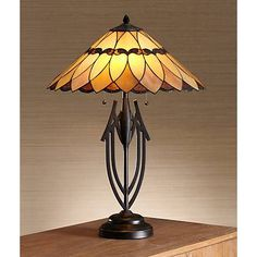 Robert Louis Tiffany Shiloh Scallop Art Glass Table Lamp - #6D010 | Lamps Plus