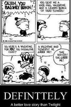 You know, minus the snowball to the face, I always think the same thing whenever I talk to a girl I like! Funny Memes, Hilarious, Funny Quotes, I Love To Laugh, Hobbes And Bacon, Funny Comics, Hobbs, Calvin And Hobbes Comics, The Funny