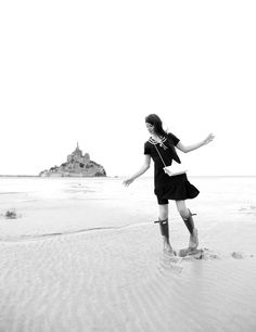 I owned this dress when I was 5. Cherry Blossom Girl Sailor Dress at Mont Saint Michel