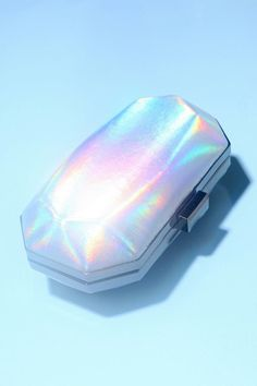 Violet Ray Holographic Hard-Case Clutch #urbanoutfitters