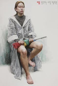 목동[생각하는 사람 미술학원]인체수채화 Watercolor Portraits, Portrait Drawing, Painting People, Figure Painting, Painting, Figure Drawing, Anatomy Sketches, Art, Portrait Girl