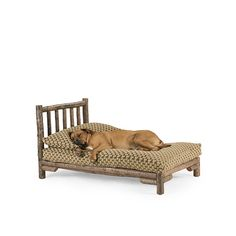 Dog Chaise X-Large #5146 shown in Natural Finish (on Bark)