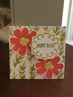 This card was made for a house warming. Paper pumpkin mash up between celebrate everything, blissful bouquet and chalk it up to love. Stamped in watermelon wonder, old olive and hello honey.