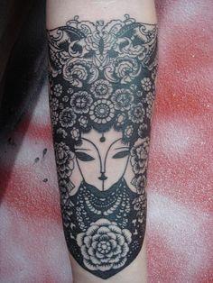 chinese lady (Dejavu Tattoo Studio Chiangmai Thailand) by augrust, via Flickr
