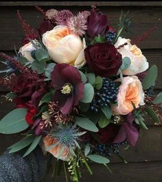 These dark burgundy flowers are so perfect for winter.