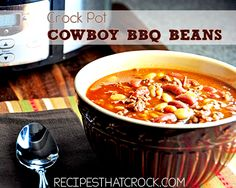 #CrockPot Cowboy #Barbecue Beans #slowcooker #bbq