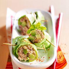 Thunfisch-Avocado-Salatröllchen - - Thunfisch-Avocado-Salatröllchen Source by dsanchezantonet High Protein Recipes, Healthy Dinner Recipes, Healthy Snacks, Healthy Eating, Cooking Recipes, Avocado Salat, Tuna Avocado, Fruits And Veggies, Entrees