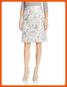 Ellen Tracy Women's a-Line Skirt, Silver/Metallic, 14 - All about women (*Amazon Partner-Link)