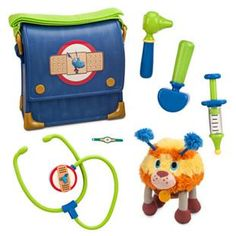 Stuffy Vet Bag Play Set with Squibbles Plush - Doc McStuffins