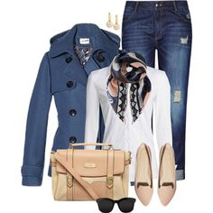 A fashion look from November 2014 featuring NIC+ZOE blouses, ASOS flats and Dorothy Perkins handbags. Browse and shop related looks.
