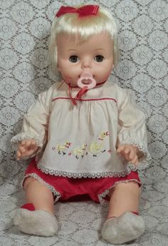 """Vintage 1965 Deluxe Reading Baby Boo Doll 21"""" All Original w Box Z"""