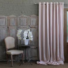 RED ticking eyelet curtain, white l Decor, Windows, Window Styles, Home Decor, Curtains, White