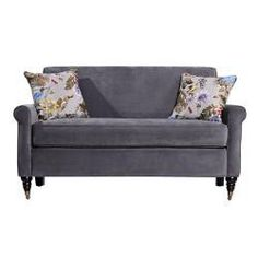 @Overstock - The angelo:HOME Harlow sofa combines modern design with traditional details. The Harlow sofa features a slightly rounded arm and is covered in a silver grey velvet fabric.http://www.overstock.com/Home-Garden/angelo-HOME-Harlow-Silver-Gray-Velvet-Sofa-with-Decorative-Pillows/6060305/product.html?CID=214117 $473.99