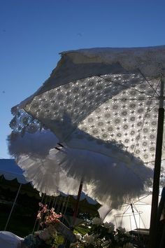 The lacy and petticoat parasols I created for Petite Retreat 2010