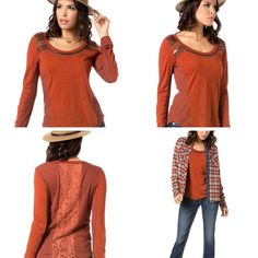 Miss Me Burnt Orange Knit Mixed Top - Md and lg only!  - $59 Thurs-Sat Specials  * Super Mystery Discount Drawing! From 20 to 50% off  (excluding name brands) * 50% off SALE! GRETCHEN SCOTT & JUDE CONNALLY ALL STYLES 50% OFF * Shoes, Scarves, Leggings Table and MORE