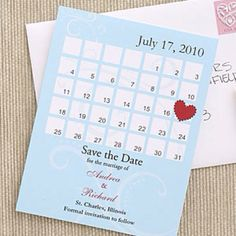 Wedding Save The Date Postcards  Creative Calendar  Wedding