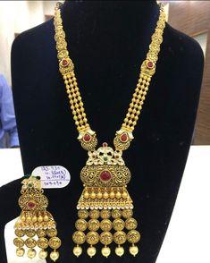 India Jewelry, Gold Jewellery, Wedding Jewelry, Fine Jewelry, Antique Necklace, Antique Jewelry, Gold Chain Indian, Necklace Set, Gold Necklace