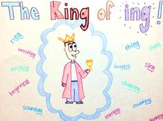 King of ing- and make a before after poster - run/running so that they can see ing is not a separate word