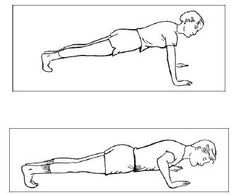 On your pushup, get your chest right down to the floor!