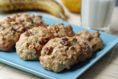 Peanut Butter Banana Oatmeal Cookies (Bananen-Haferflocken-Kekse)