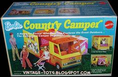Barbie Camper. I had this and the Barbie Airplane. But the funny thing is, I never had the Barbie Dream House. My Barbie was homeless but she sure did travel in style!