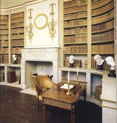Library, Gustav III's Pavilion at Haga Park - Sweden Library Study Room, Dream Library, Unique Shelves, Swedish Interiors, Beautiful Library, Palace, Home Libraries, Traditional Interior, House Smells