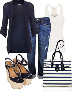 Love the purse coole klamotten, kleider machen leute, farbkombinationen, kl Komplette Outfits, Polyvore Outfits, Stylish Outfits, Summer Outfits, Winter Outfits, Capri Outfits, Summer Fashions, Simple Outfits, Jean Outfits