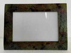 Green and black distressed picture frame 4x6 by MadeByMicky