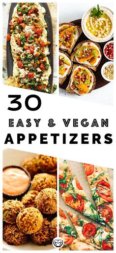 These delicious and easy vegan appetizers are what you'll need for your dinner parties. The most incredible, healthy, colorful and inexpensive party food perfect to please a crowd!  #appetizersforparty #veganrecipes #veganappetizers #fingerfood #veganpartyrecipes