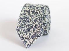 Steel Blue Floral Ties For Men Steel Blue Floral Men's | Etsy