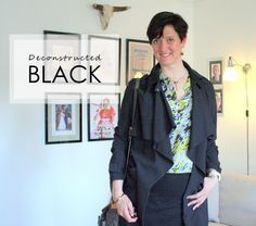 Tall girl's fashion // Deconstructed black