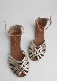 Mona Metallic Sandals