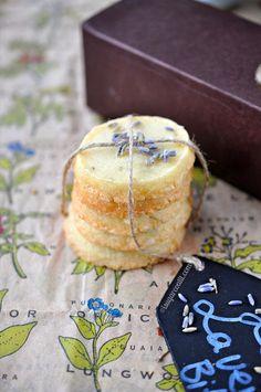 Easy Lemon Lavender Bites. Shortbread cookies bursting with aromatic lavender and citrus.