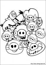 Coloring Page Angry Birds Angry Birds Pinterest Angry Birds