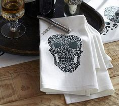 Day of the Dead Bar Towel, Set of 2 #potterybarn