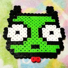 Gir Invader Zim perler beads  by Jessica Moon