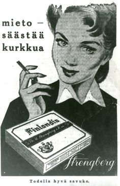 Finlandia-savuke Old Ads, Emoji, Smoking, Retro Vintage, Nostalgia, Memories, Film, Movie Posters, Finland