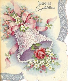 wedding Cards from yester year Vintage Wedding Cards, Vintage Greeting Cards, Vintage Bridal, Vintage Postcards, Vintage Images, Vintage Weddings, Wedding Anniversary Cards, Card Wedding, Wedding Wishes