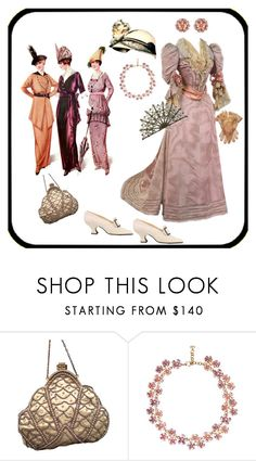 """Vintage Glamour"" by jeanstapley ❤ liked on Polyvore featuring Gatsby, Christian Dior and vintage"