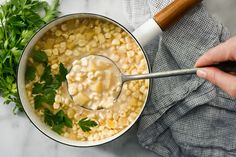 This is chowder at its simplest: corn, onion, potatoes and milk, with a couple of chopped tomatoes and a handful of parsley to add flavor and color Starting with bacon and finishing with cream makes a richer version of the dish But you could easily expand its borders by adding curry powder and ginger, sour cream and cilantro