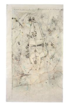 Navigation, 170Χ90cm,mixed media on paper