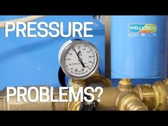 Solve bad water pressure problems with your residential well by checking the pressure on your tank. most overlooked DIY thing to check. Well Water System, Water Pump System, Water Well, Water Systems, Well Water Pressure Tank, Well Pump Repair, House Water Pump, Well Tank, Old Water Pumps