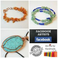 White Bear Jewelry is this weeks featured Facebook Artist here at On Fire for Handmade. Jewelry designs by Sarah Stewart.