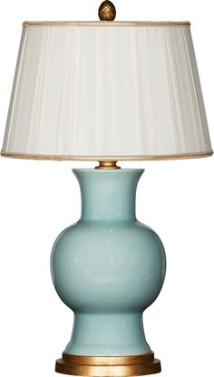 Celadon Green Ceramic Table Lamp - love these - remind us of Spitzmiller but a fraction of the cost