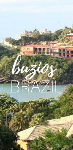 Buzios Brazil is a gorgeous beach town not far from RIO.