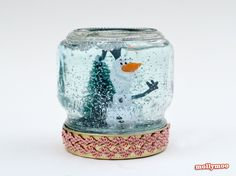 how to make a snow globe by Michelle McInerney, MollyMoo