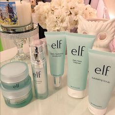 E.L.F. Hydrating skin care line Hydrate your skin with E.L.F's serum, moisturizer, eye cream, night cream, and exfoliating scrub! ELF Other